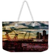 City - Ny - Overlooking The Hudson Weekender Tote Bag