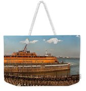 City - Ny - The Staten Island Ferry - Panorama Weekender Tote Bag