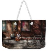 City - Ny - Two Guys And A Dog Weekender Tote Bag