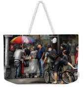 City - Ny Delancy St - Getting A Snowcone  Weekender Tote Bag