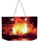 City - Vegas - Treasure Island - Explosion Abandon Ship Weekender Tote Bag