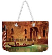 City - Vegas - Venetian - The Gondola's Of Venice Weekender Tote Bag