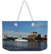 City Across The River Weekender Tote Bag