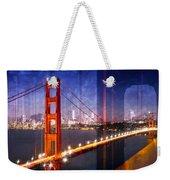 City Art Golden Gate Bridge Composing Weekender Tote Bag