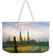 City At Moonrise Weekender Tote Bag