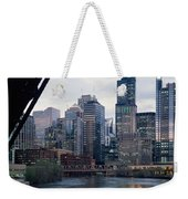 City At The Waterfront, Chicago River Weekender Tote Bag