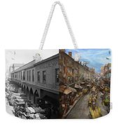 City - Baltimore Md - Traffic On Light Street - 1906 - Side By Side Weekender Tote Bag