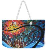 City By The Sea By Madart Weekender Tote Bag