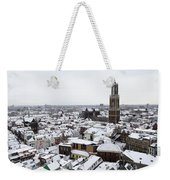City Centre Of Utrecht With The Dom Tower In Winter Weekender Tote Bag