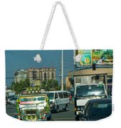 City Driving Weekender Tote Bag