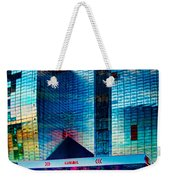 City Gas Station Weekender Tote Bag