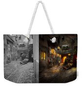 City - Germany - Alley - Coming Home Late 1904 - Side By Side Weekender Tote Bag