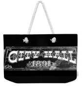 City Hall 1891 Weekender Tote Bag