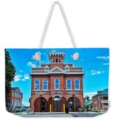 City Hall And Fire Department Weekender Tote Bag
