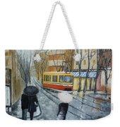 City In Rain Weekender Tote Bag