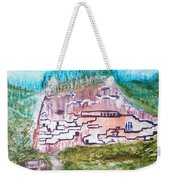 City In The Wall Weekender Tote Bag