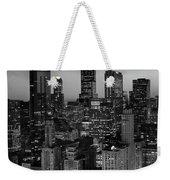 City Light Chicago B W Weekender Tote Bag