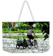 City Man On A Bike Weekender Tote Bag