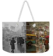 City - Ny - Times Square On A Rainy Day 1943 Side By Side Weekender Tote Bag