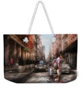 City - Ny - Walking Down Mercer Street Weekender Tote Bag