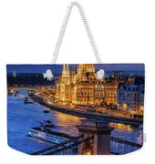 City Of Budapest At Twilight Weekender Tote Bag