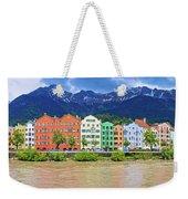 City Of Innsbruck Colorful Inn River Waterfront Panorama Weekender Tote Bag