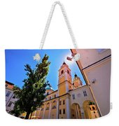 City Of Ljubljana Church And Square View Weekender Tote Bag