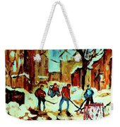 City Of Montreal Hockey Our National Pastime Weekender Tote Bag