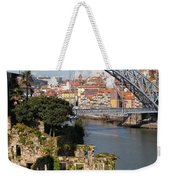 City Of Porto In Portugal Picturesque Scenery Weekender Tote Bag