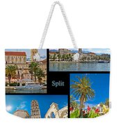 City Of Split Nature And Architecture Collage Weekender Tote Bag