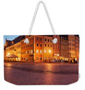 City Of Wroclaw Old Town Market Square At Night Weekender Tote Bag