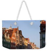 City Of Wroclaw Old Town Skyline At Sunset Weekender Tote Bag