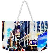 City Shopping Weekender Tote Bag
