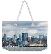 City - Skyline - Hoboken Nj - The Ever Changing Skyline Weekender Tote Bag