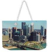 City Skyline-pittsburg Weekender Tote Bag