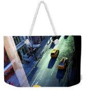 City Street Aerial New York Weekender Tote Bag