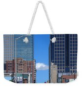 City Street Canyon Weekender Tote Bag