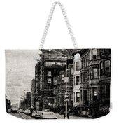 City Streets In Grunge Weekender Tote Bag
