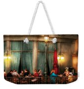 City - Vegas - Paris - The Outdoor Cafe  Weekender Tote Bag by Mike Savad