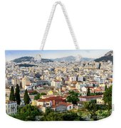 City View Of Old Buildings In Athens, Greece Weekender Tote Bag