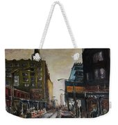 City With Barrels Weekender Tote Bag