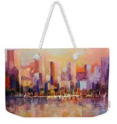 Cityscape 2 Weekender Tote Bag by Rosario Piazza