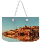 Cityscape For The Beautiful Nubian City Aswan In Egypt At The Golden Hour Of The Sunset Time. Weekender Tote Bag