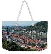 Cityscape  Of Heidelberg In Germany Weekender Tote Bag