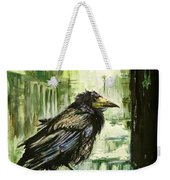 Cityscape With A Crow Weekender Tote Bag