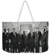 Civil Rights Leaders And President Kennedy 1963 Weekender Tote Bag