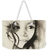 Claire Black And White Weekender Tote Bag
