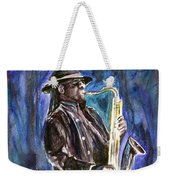 Clarence Clemons Weekender Tote Bag by Clara Sue Beym