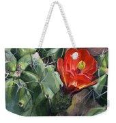 Claret Up Cactus Weekender Tote Bag