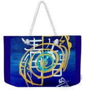 Clarity Throat Chakra Mantra Weekender Tote Bag